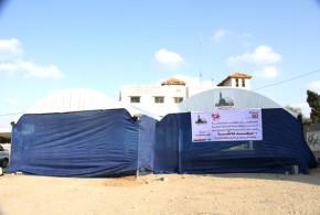 بدعم من جمعية طيبة الإنسانية العالمية جمعية الفلاح الخيري تفتتح مصلى عائشة بمنطقة مشروع عامر في جباليا بمحافظة شمال غزة